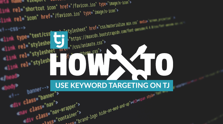 how to use keyword targeting