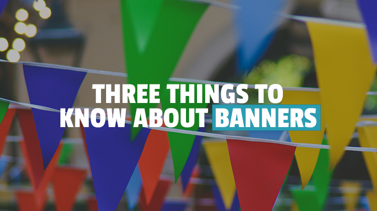 three things banners