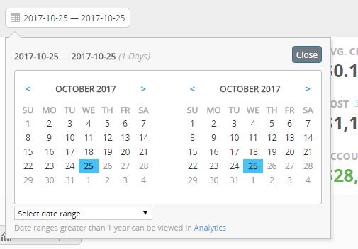 Dashboard Calendar 2