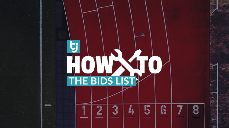 how to: bids list