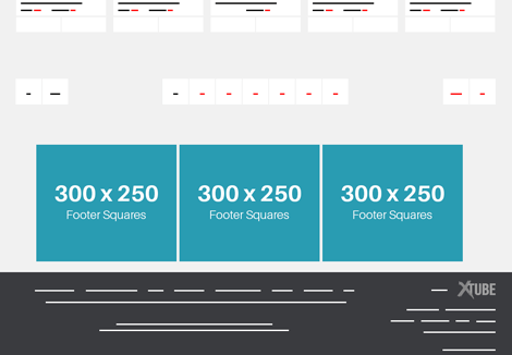 Xtube PC - Footer Squares