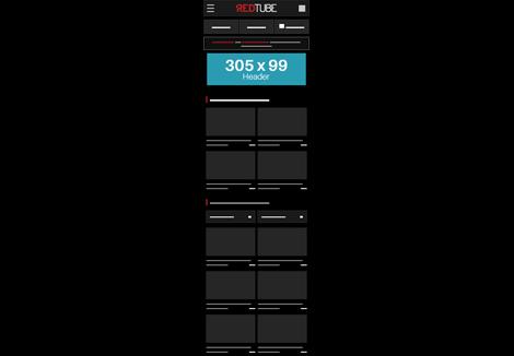 Redtube Mobile- Header